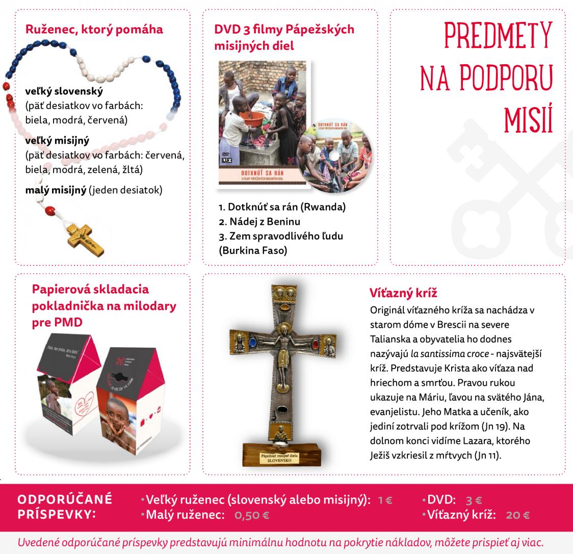 Misijné predmety misijné ružence